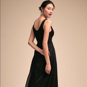 BHLDN XS Black Angie Bridesmaid Dress New
